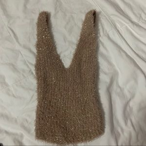 urban outfitters fuzzy sparkle tank top